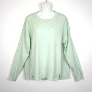 J Crew Lightweight Wool Tunic Sweater XL Mint